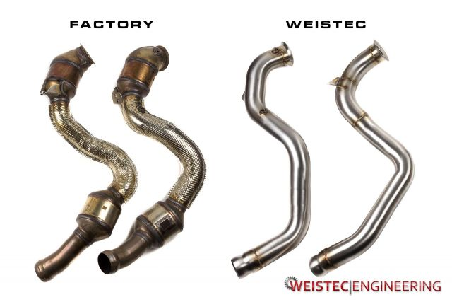 Mercedes Benz AMG M177 Downpipes C63 | Weistec